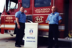 Jackson Firefighters collect cans for Aluminum Cans for Burned Children.