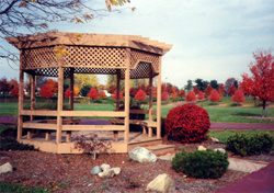 Here is a photo of the Jackson Professional Firefighters gazebo at Jackson North Park.